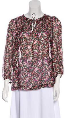 Vanessa Seward Semi-Sheer Silk Blouse w/ Tags