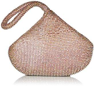 Jessica McClintock Staci Sparkle Mesh Pouch Wristlet Evening Clutch