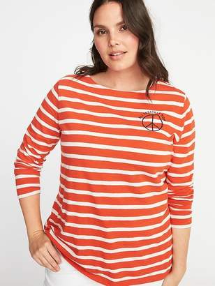 Old Navy Relaxed Plus-Size Mariner-Stripe Graphic Tee