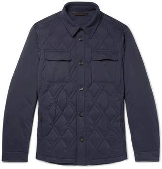 Ermenegildo Zegna Slim-Fit Quilted Shell Down Jacket