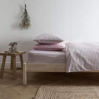 Harriet Hare Ticking Stripe Rose Pink Toddler Cot Bed Set
