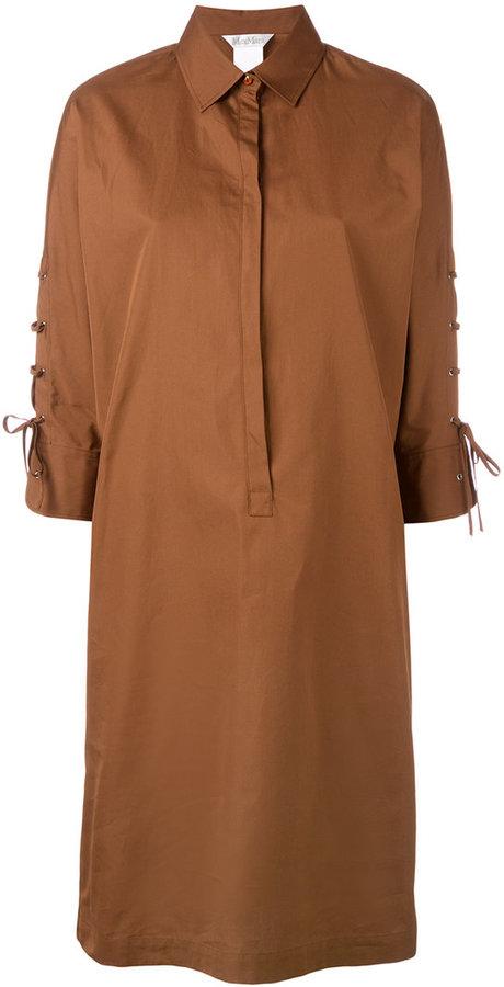 Max MaraMax Mara tied sleeve shirt dress