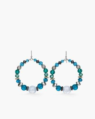 Chico's Chicos Teal Stone Hoop Earrings