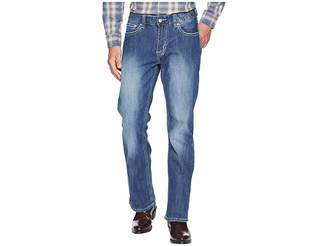 Rock and Roll Cowboy Reflex Double Barrel Denim with Stitches in Light Wash M0D6602