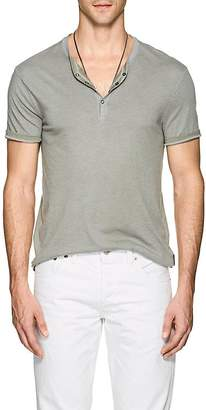 John Varvatos Men's Cotton-Blend Henley