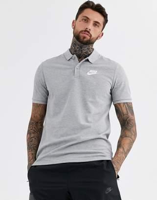 Nike Logo polo shirt in grey
