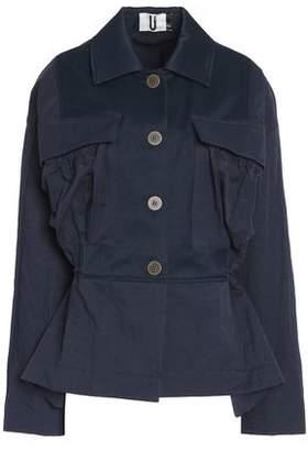 Topshop Redford Oversized Twill-Paneled Shell Jacket