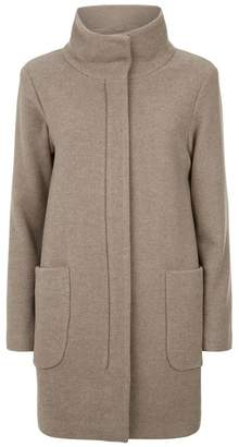 SET Wool Funnel Neck Coat