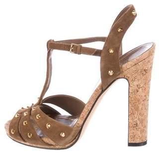 Gucci Stud T-Strap Sandals