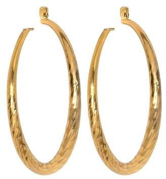 Kenneth Jay Lane Medium Twist Hoop Pierced Earrings
