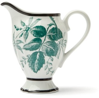 Herbarium Porcelain Cream Jug - Womens - Green Multi
