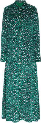 Olivia von Halle Hero Leopard-Print Silk-Jersey Robe