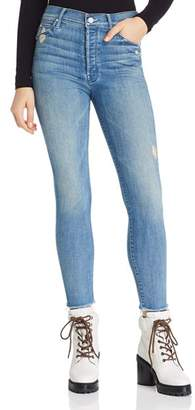 Mother The Stunner Fray Ankle Skinny Jeans in Graffiti Girl Lover - 100% Exclusive