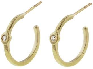 Victoria Cunningham Single Diamond Hoop Earrings