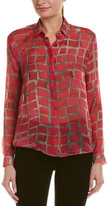 MSGM Silk Check Print Shirt