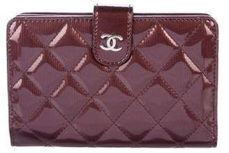Chanel Patent Quilted French Purse Wallet