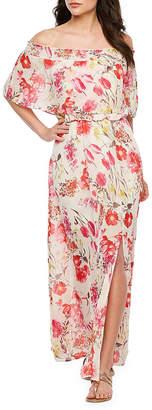 PREMIER AMOUR Premier Amour Off The Shoulder Floral Maxi Dress