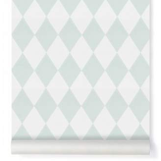 ferm LIVING Harlequin Wallpaper - mint green