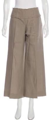 Armani Collezioni Mid-Rise Linen Pants Beige Mid-Rise Linen Pants
