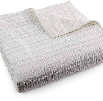Hotel Collection CLOSEOUT! Linen Fog Full/Queen Quilted Coverlet, Created for Macy's