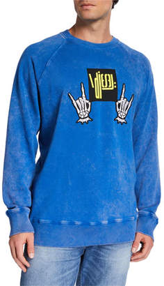 Diesel Men's S Rodd Graphic Logo Raglan-Sleeve Sweater