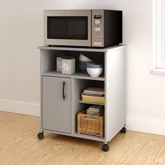 South Shore Furniture South Shore Smart Basics Microwave Cart with Storage on Wheels, Multiple Finishes