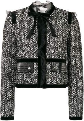 Giambattista Valli bow tweed jacket