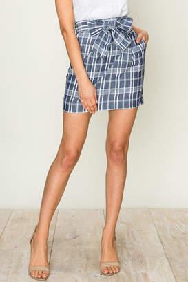 Hyfve Plaid Pencil Skirt