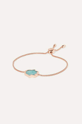 Monica Vinader Atlantis Rose Gold Vermeil Amazonite Bracelet
