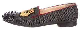 Christian Louboutin Spiked Cap-Toe Loafers