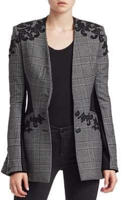 Jonathan Simkhai Wool Applique Basque Jacket