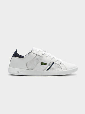 Lacoste New Womens Lac Novas 119 1 Sma White Navy Sneakers Low Top