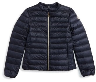 Toddler Moncler Ambrine Water Resistant Down Jacket $310 thestylecure.com