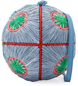 SABA Sophie Anderson Straw Sphere Crossbody Bag
