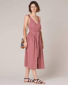 Sessun Canyon Rose Aiko Dress - L - Pink