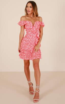 Showpo Way Beyond dress in red print