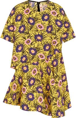 Marni Layered floral-print poplin top