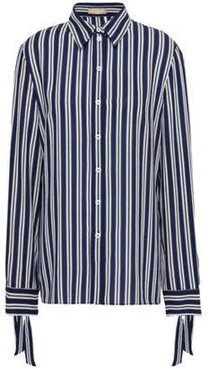 Michael Kors Striped Silk-crepe Shirt
