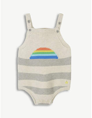 Bonnie Mob Striped knitted romper suit 0-12 months