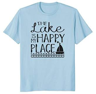 The Lake is My Happy Place T-Shirt Sailboat