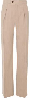 Chloé Stretch-wool Straight-leg Pants - Beige