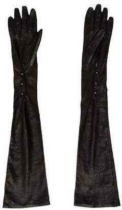 Carolina Amato Leather Long Gloves