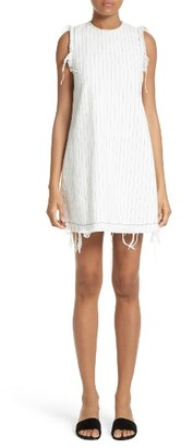Women's T By Alexander Wang Stripe Burlap Shift Dress $395 thestylecure.com