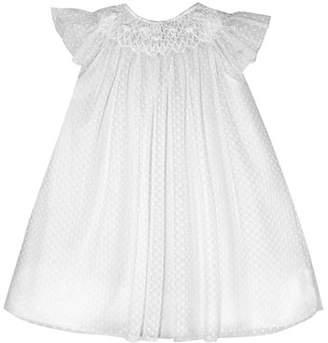 Isabel Garreton Angelic Smocked Swiss Dot Bishop Dress, Size 3-12 Months