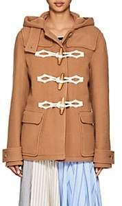 J.W.Anderson Women's Wool Melton Hooded Coat-Camel
