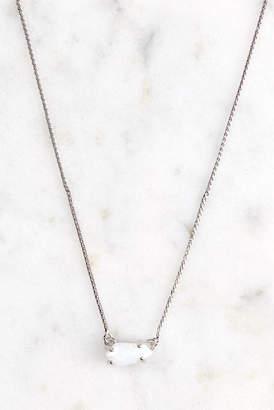 Kendra Scott Jayde Delicate Necklace - White Opal