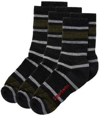 Smartwool Striped Hike Light Crew 3-Pack Crew Cut Socks Shoes