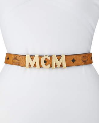 MCM Logo-Buckle Visetos Belt