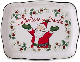 "Pfaltzgraff Winterberry ""I Believe in Santa"" Cookie Plate"