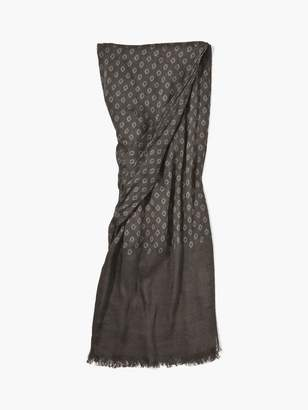 John Varvatos Woven Crinkled Geometric Patterned Scarf
